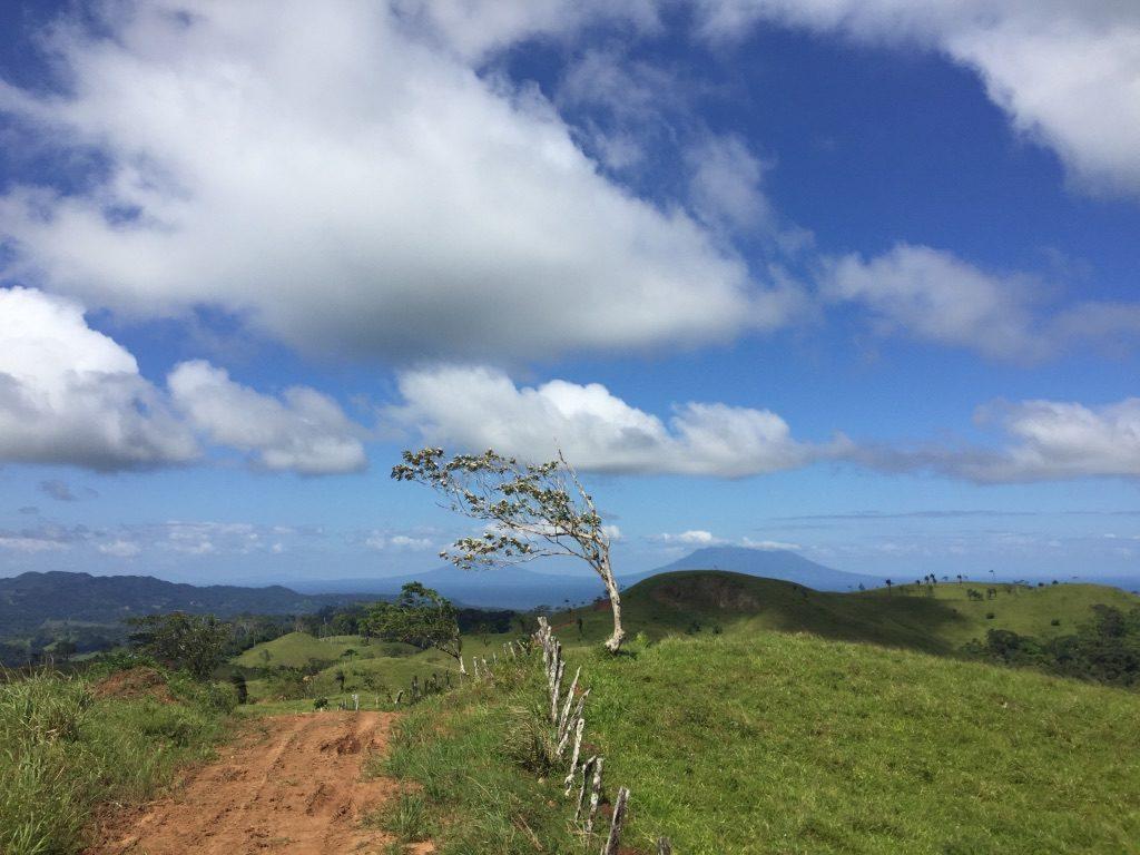 route vers le lodge Tierra madre