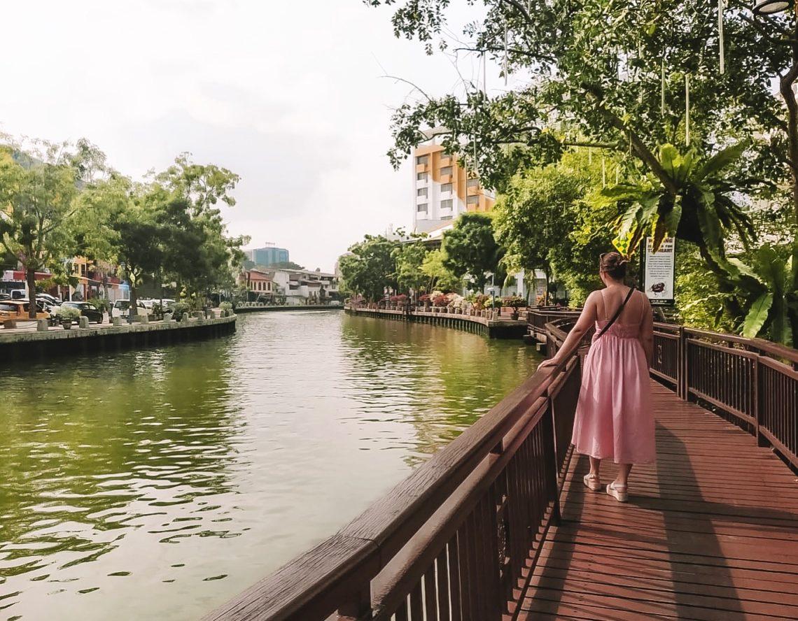 bord de la rivière Malacca